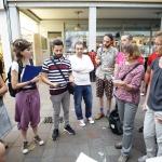 Gruppe beim Stadtrundgang